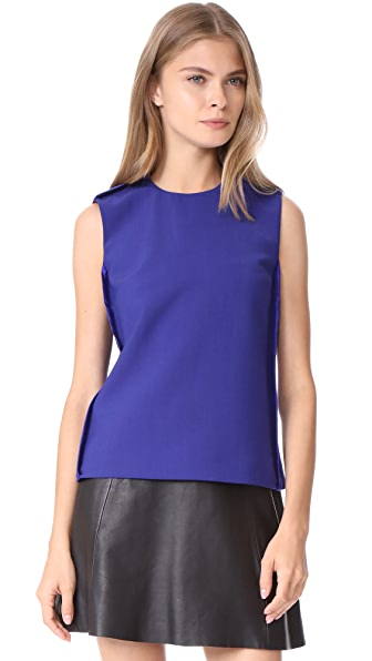Victoria Victoria Beckham Sleeveless Top In Indigo