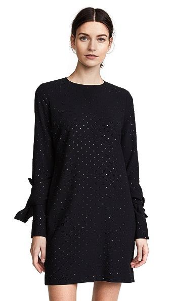 Victoria Victoria Beckham Twist Sleeve Shift Dress In Black