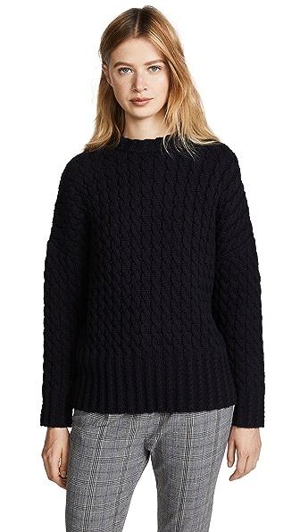 Victoria Victoria Beckham Drop Shoulder Sweater In Navy