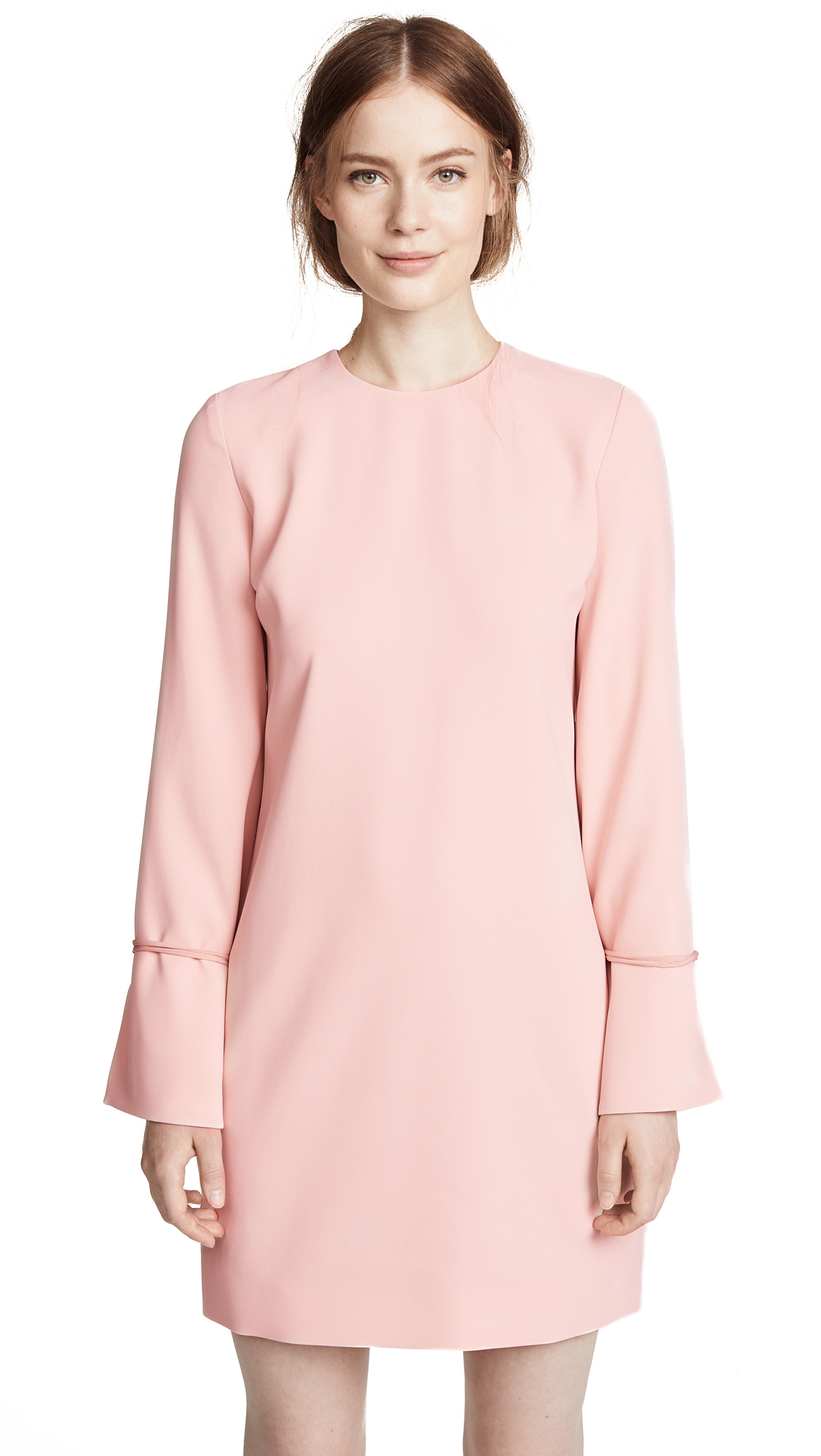 Victoria Victoria Beckham Tie Cuff Shift Dress In Pearl