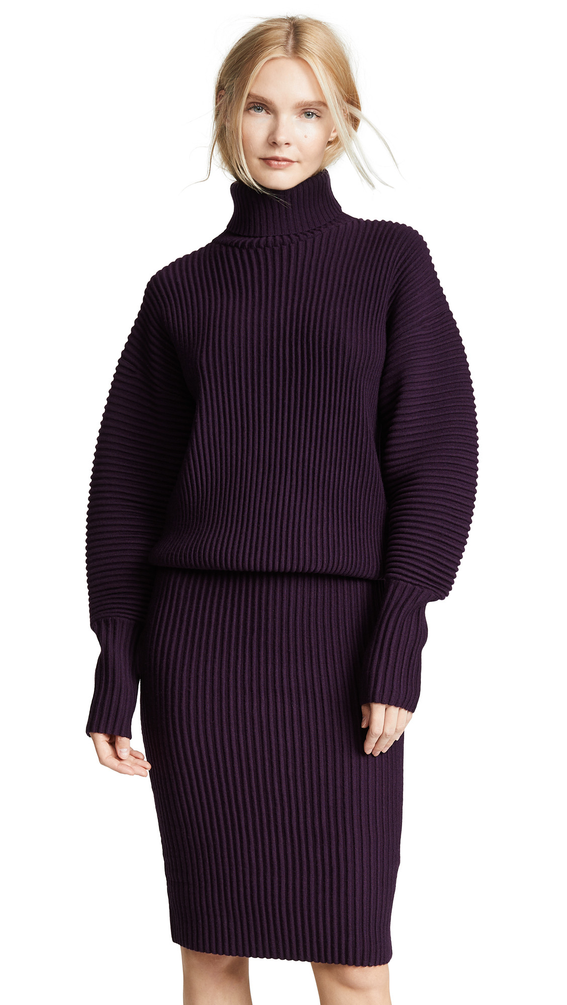 Victoria Victoria Beckham Relaxed Turtleneck Dress