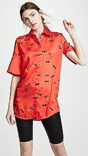 Victoria Victoria Beckham Рубашка с короткими рукавами