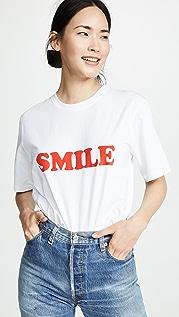 Victoria Victoria Beckham Футболка с надписью «Smile»