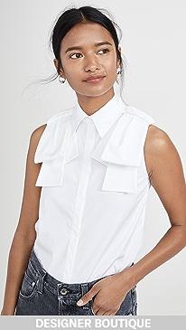 e61863876d Victoria Victoria Beckham. Sleeveless Epaulet Shirt