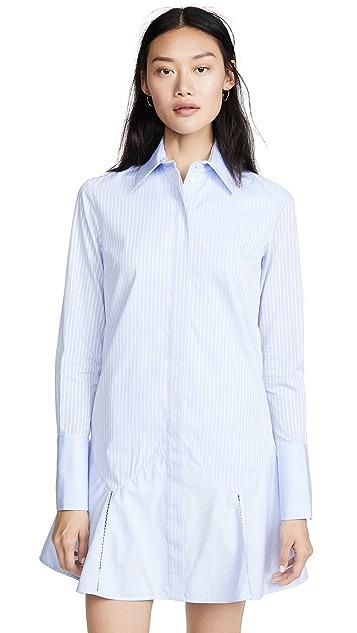 Victoria Victoria Beckham Flounce Hem Shirtdress