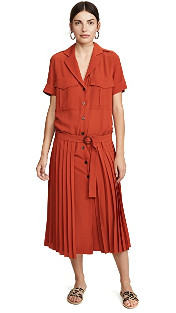 Victoria Victoria Beckham Pleat Detail Dress