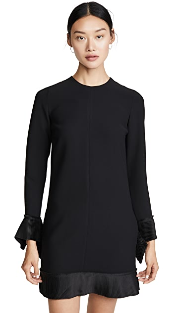 Photo of  Victoria Victoria Beckham Pleat Detail Shift Dress - shop Victoria Victoria Beckham dresses online sales