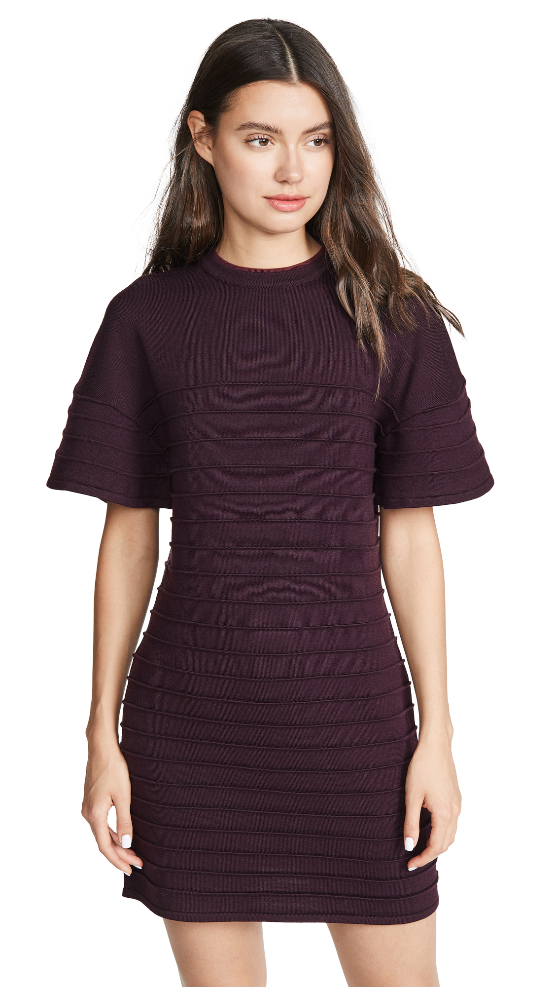 Buy Victoria Victoria Beckham online - photo of Victoria Victoria Beckham Flounce Sleeve Mini Dress