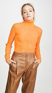 Victoria Victoria Beckham Облегающий топ с воротником под горло