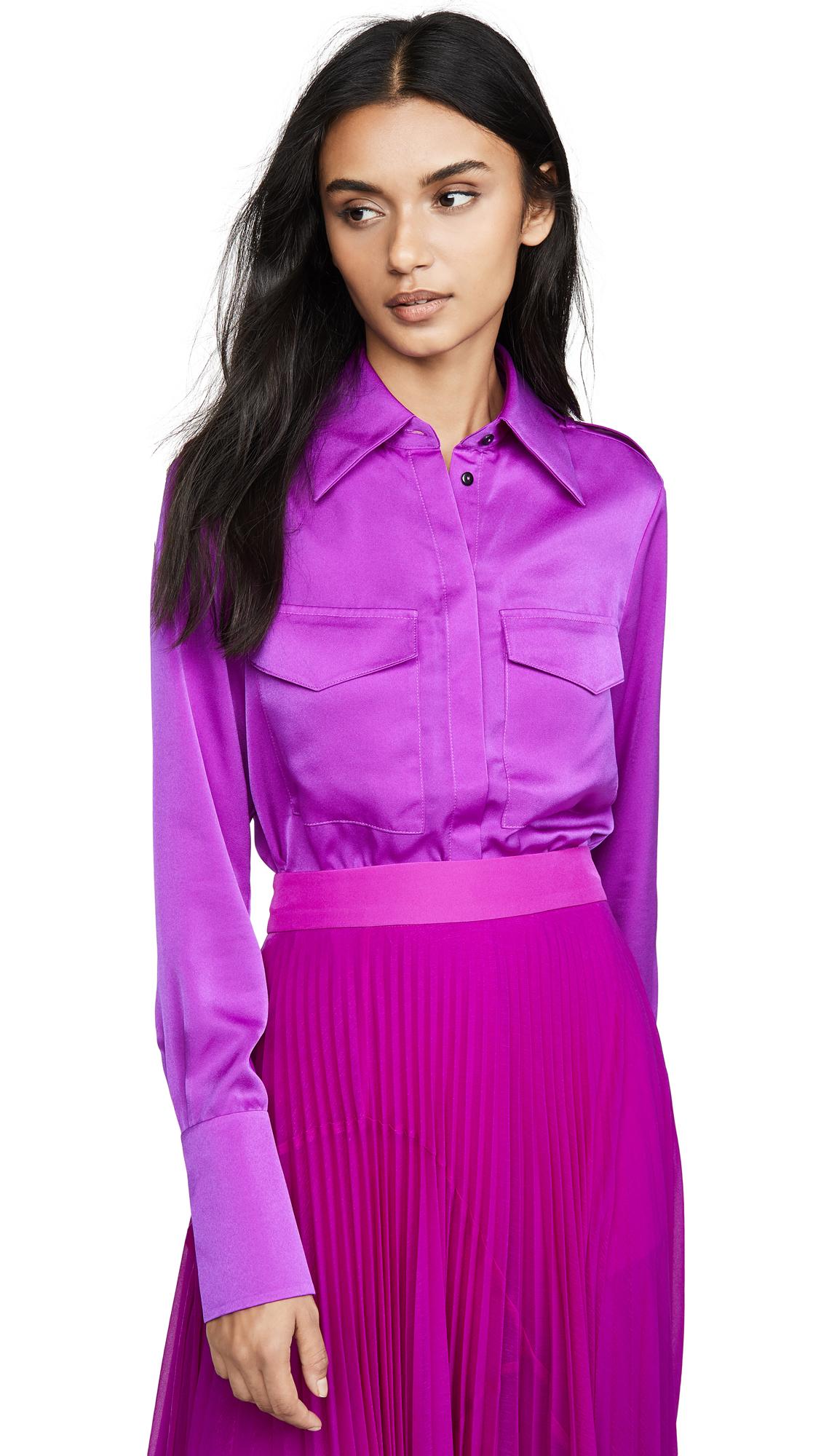 Buy Victoria Victoria Beckham online - photo of Victoria Victoria Beckham Epaulette Detail Shirt
