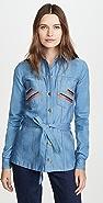 Victoria Victoria Beckham 系腰带刺绣衬衫