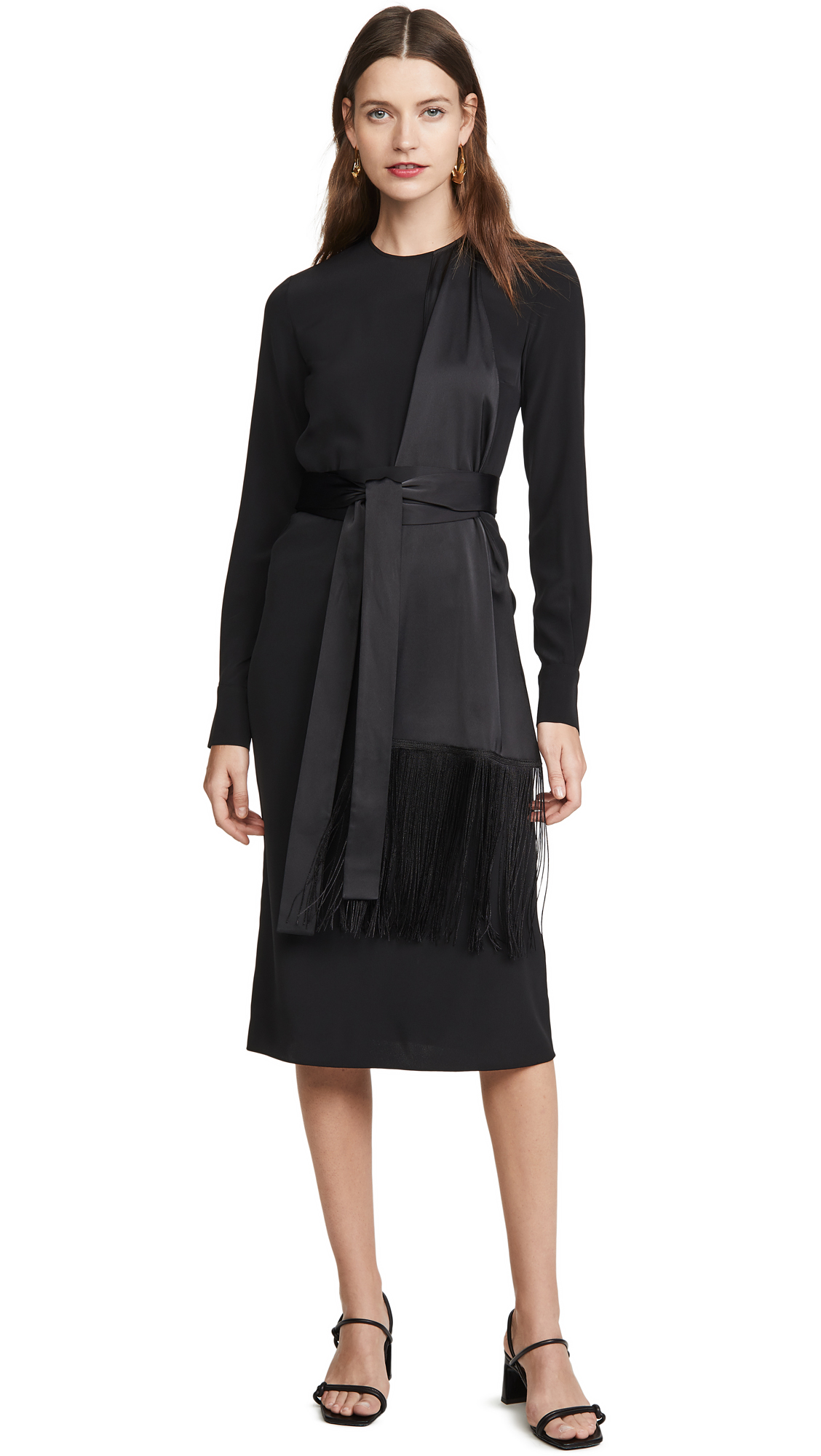 Buy Victoria Victoria Beckham online - photo of Victoria Victoria Beckham Fringe Scarf Dress