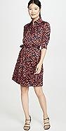 Victoria Victoria Beckham Cherry Print Shirt Dress