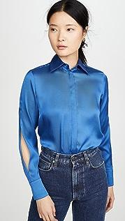 Victoria Victoria Beckham Рубашка с рукавами с разрезами