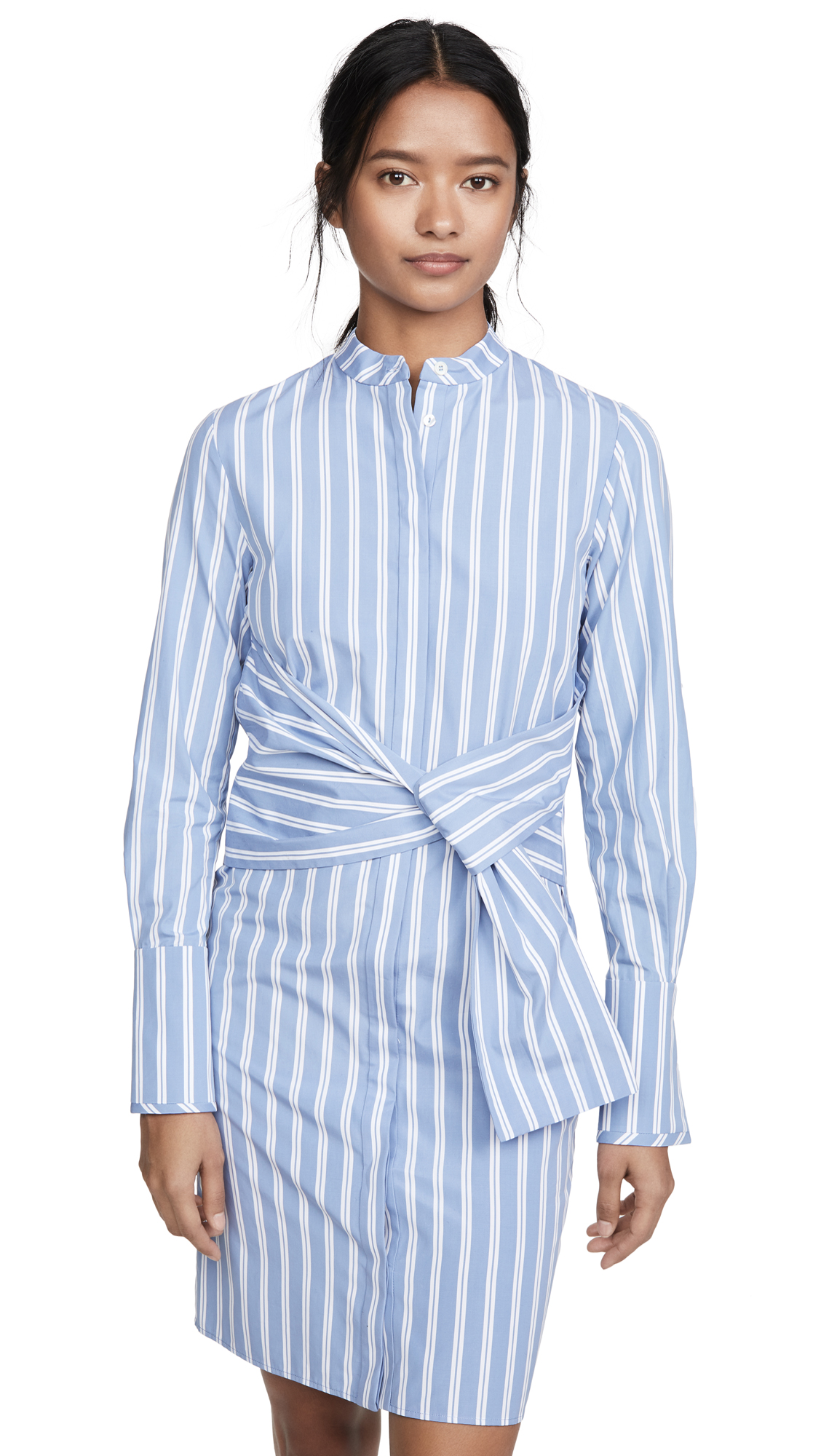Victoria Victoria Beckham Striped Shirt Dress with Tie - 50% Off Sale