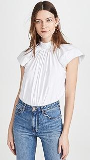 Victoria Victoria Beckham 衬衣面料衣袖 T 恤