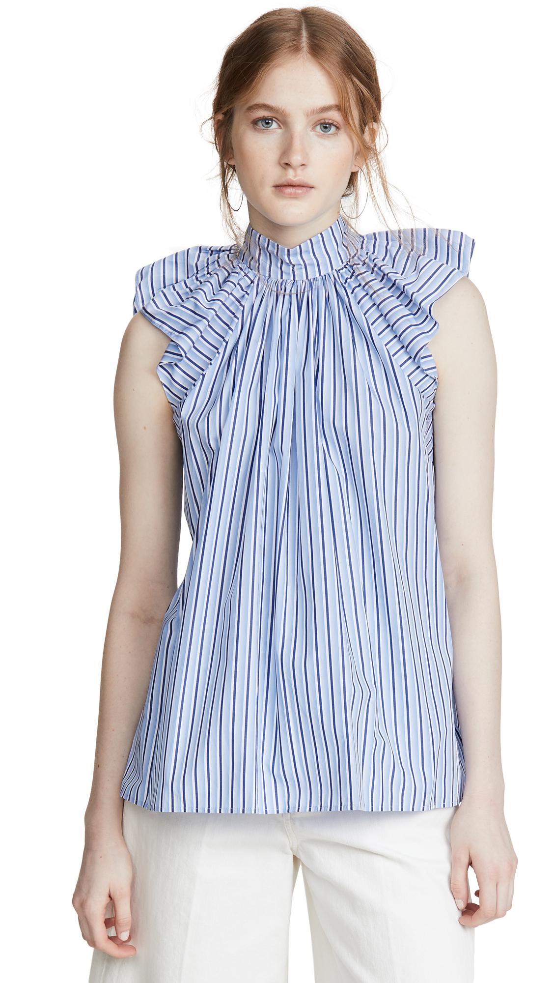 Victoria Victoria Beckham Ruched Shoulder Sleeveless Top - 30% Off Sale