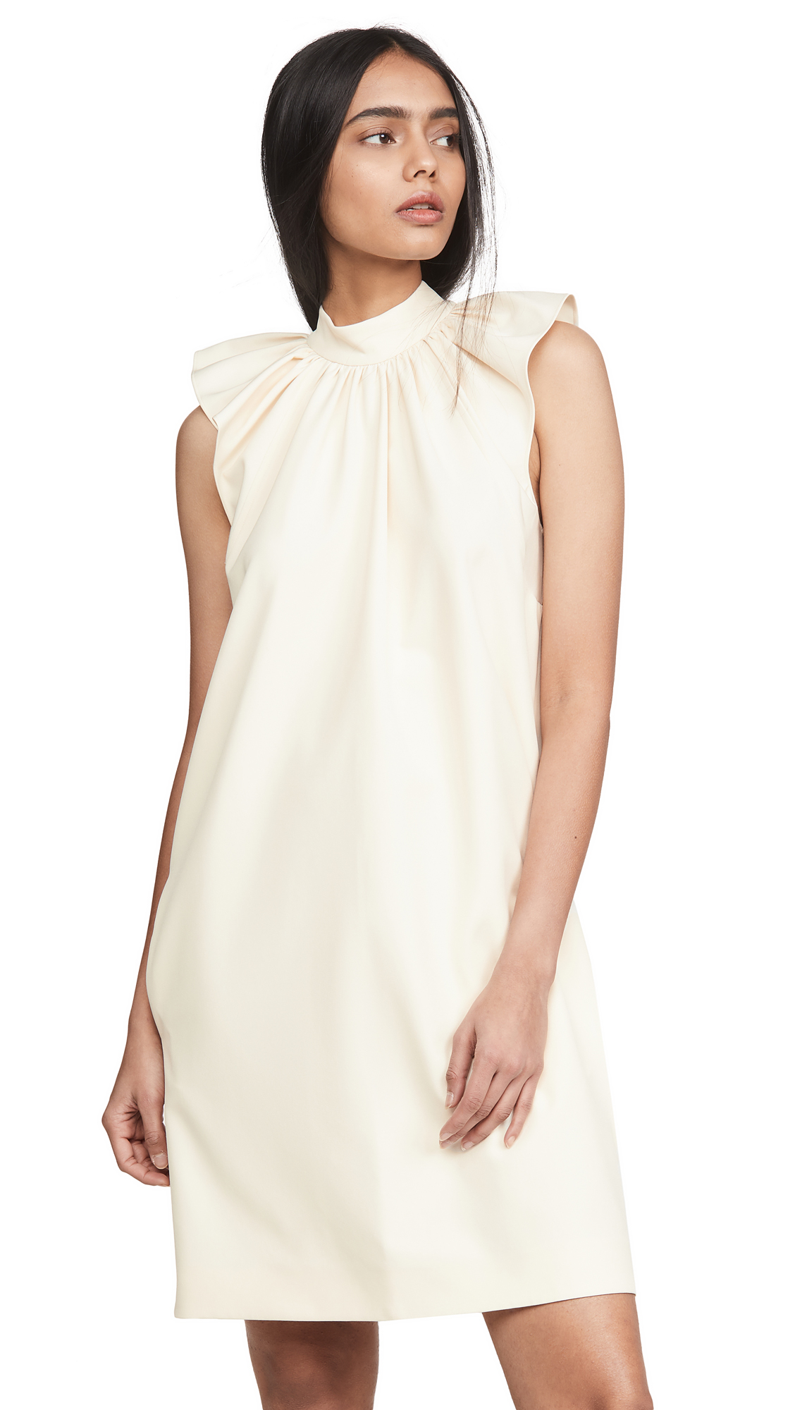 Victoria Victoria Beckham Ruched Shoulder Sleeveless Dress - 30% Off Sale
