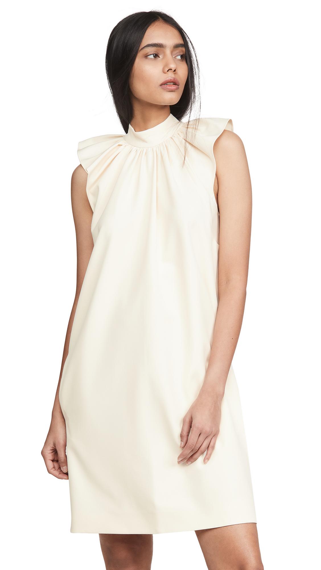 Buy Victoria Victoria Beckham Ruched Shoulder Sleeveless Dress online beautiful Victoria Victoria Beckham Clothing, Dresses