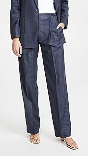 Victoria Victoria Beckham Button Pleat Trousers
