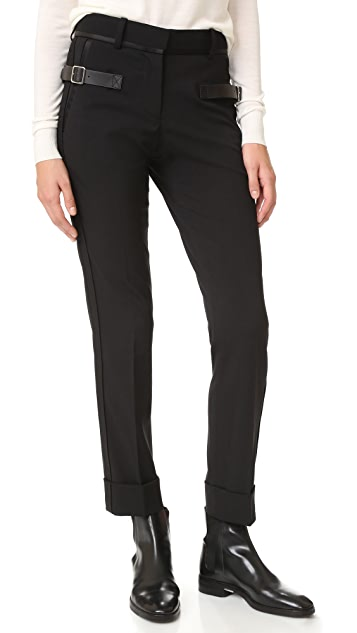 Vera Wang Collection Trouser with Side Buckle Detail