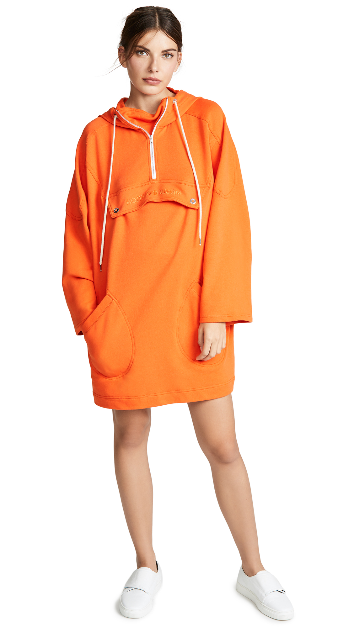Walk of Shame Anorak Dress In Orange