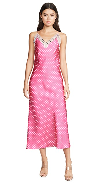Walk of Shame Polka Dot Slip Dress