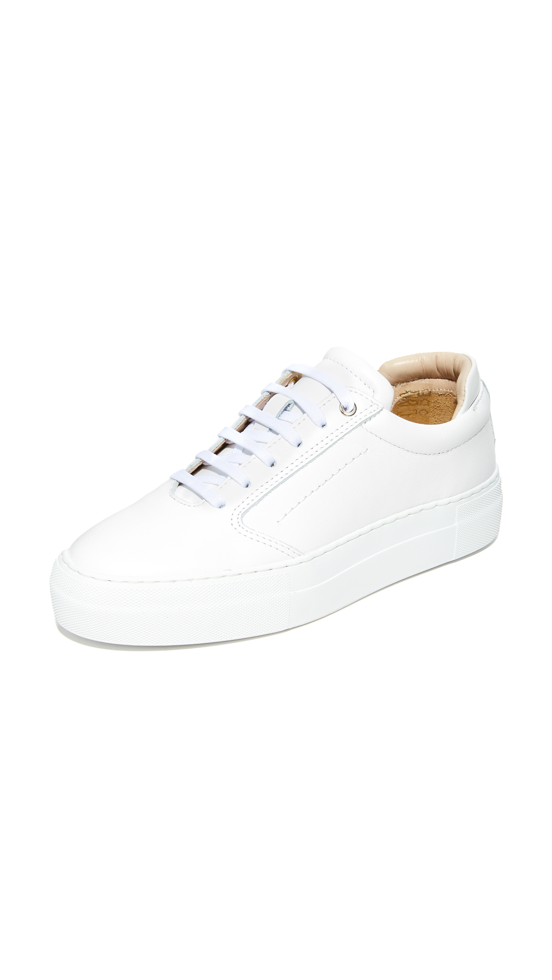 WANT Les Essentiels Lalibela Sneakers In White/White