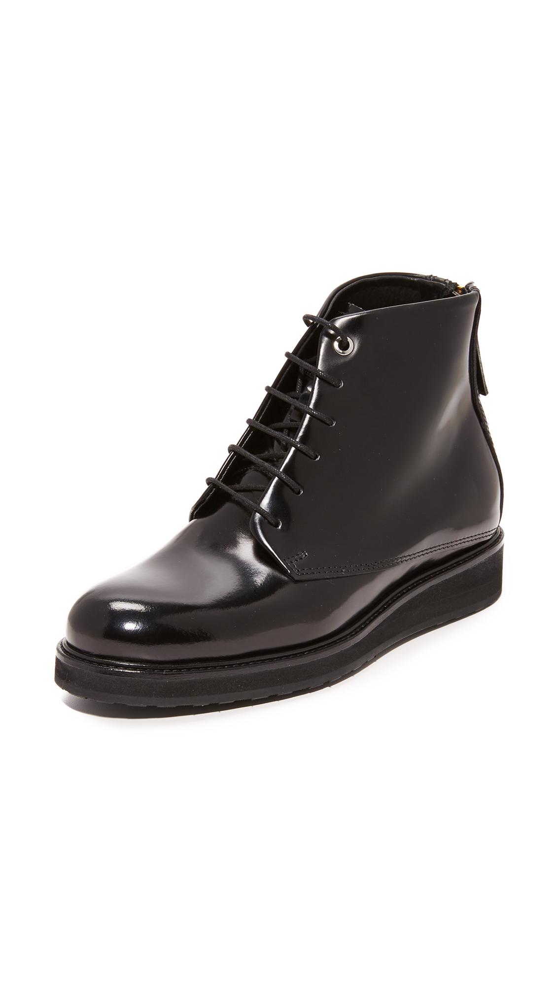 WANT LES ESSENTIELS Menara Zip Booties - Black/Black