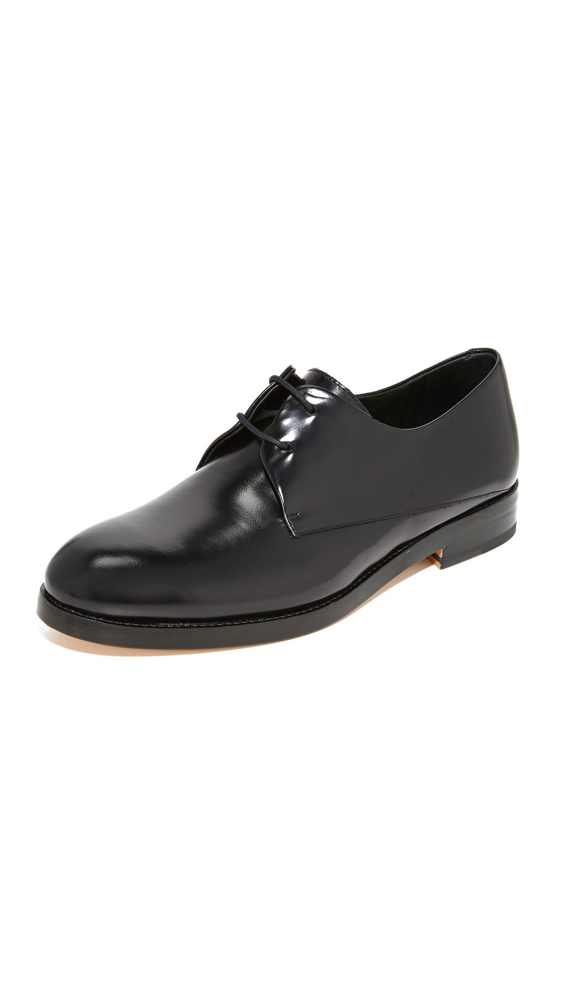 WANT LES ESSENTIELS Pena Derby Oxfords - Black/Black
