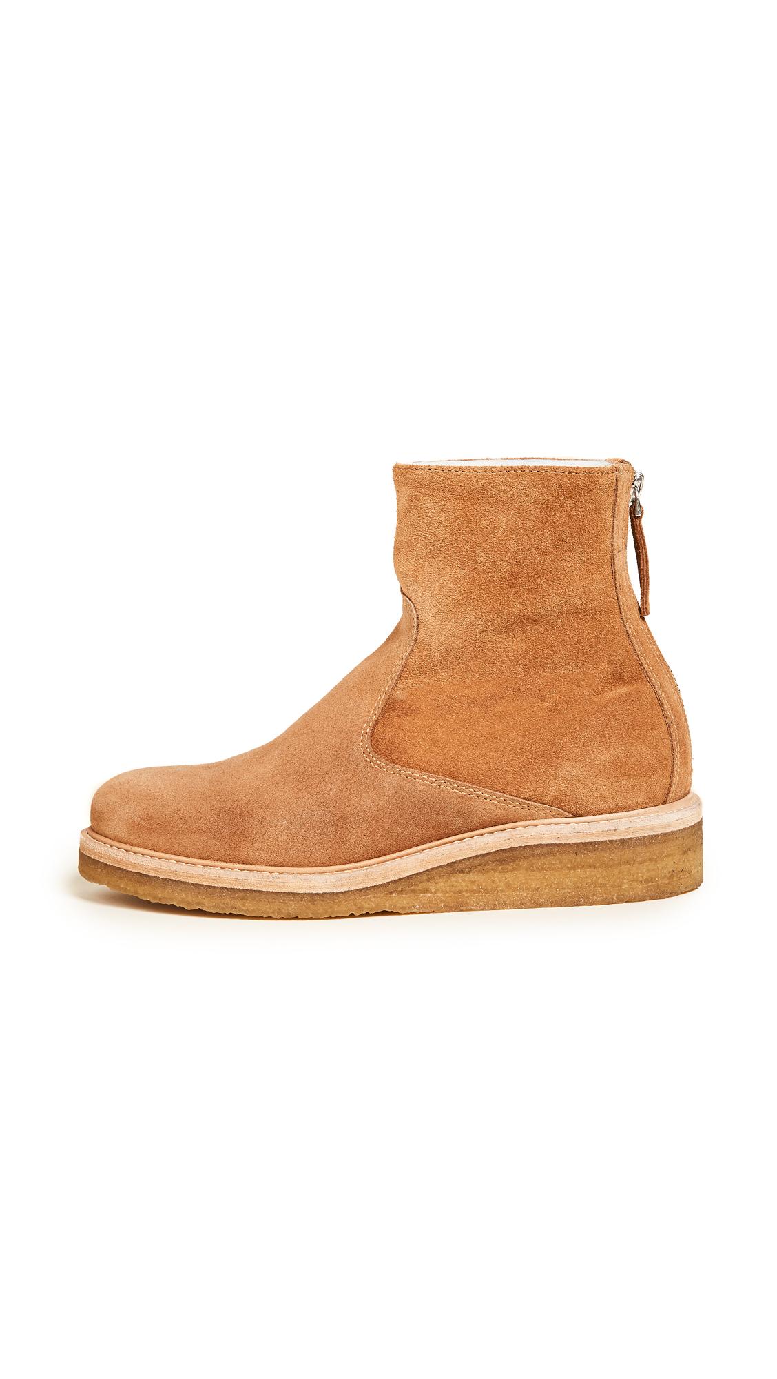 WANT LES ESSENTIELS Stevie Crepe Sole Ankle Booties - White Oak