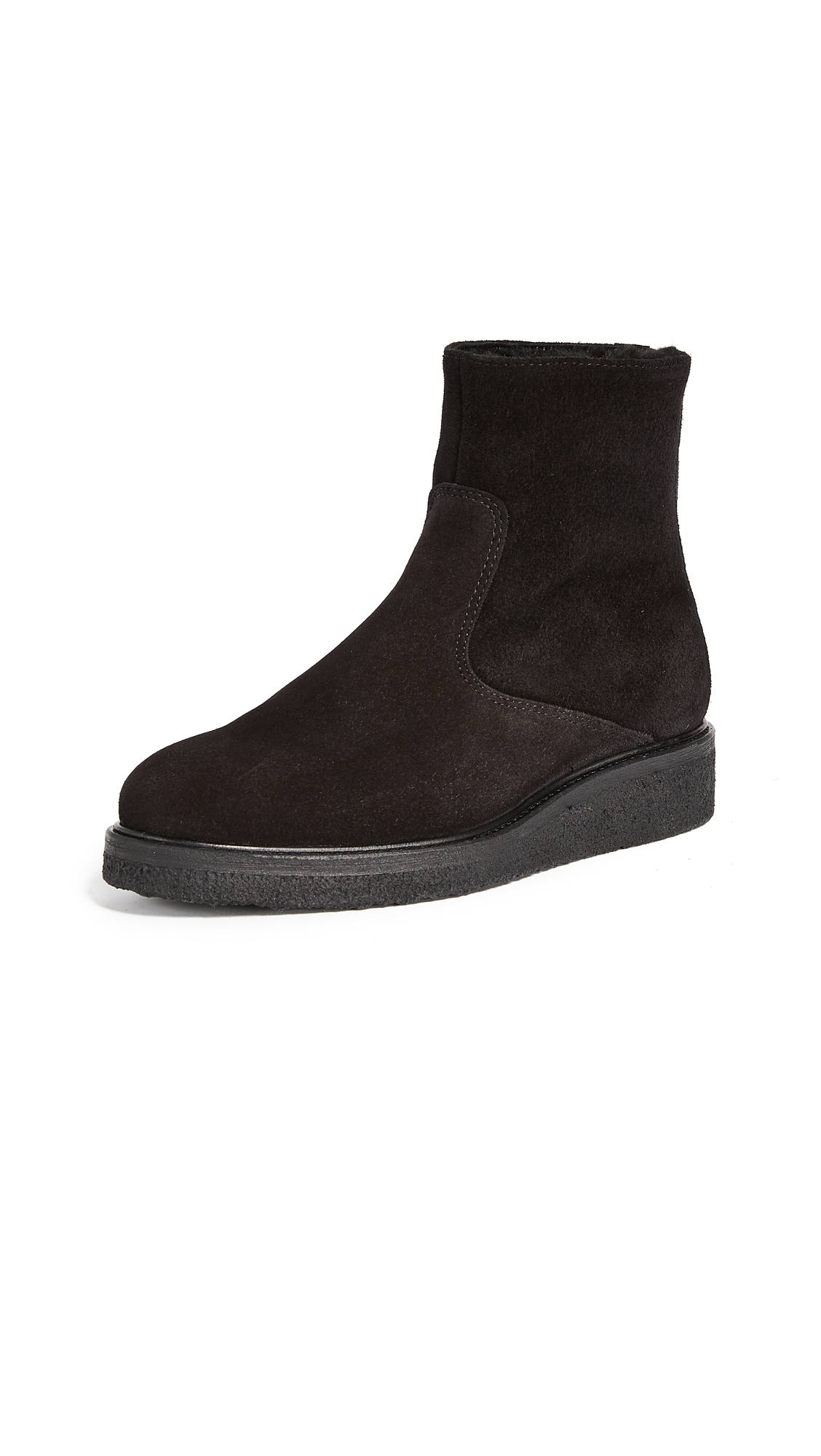 WANT LES ESSENTIELS Stevie Crepe Sole Ankle Booties - Black
