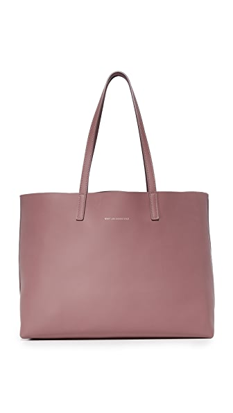 WANT LES ESSENTIELS Strauss Horizontal Tote - Marsala/Metallic Marsala