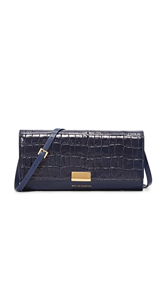 WANT LES ESSENTIELS Bradshaw Continental Wallet - Navy Croc/True Blue