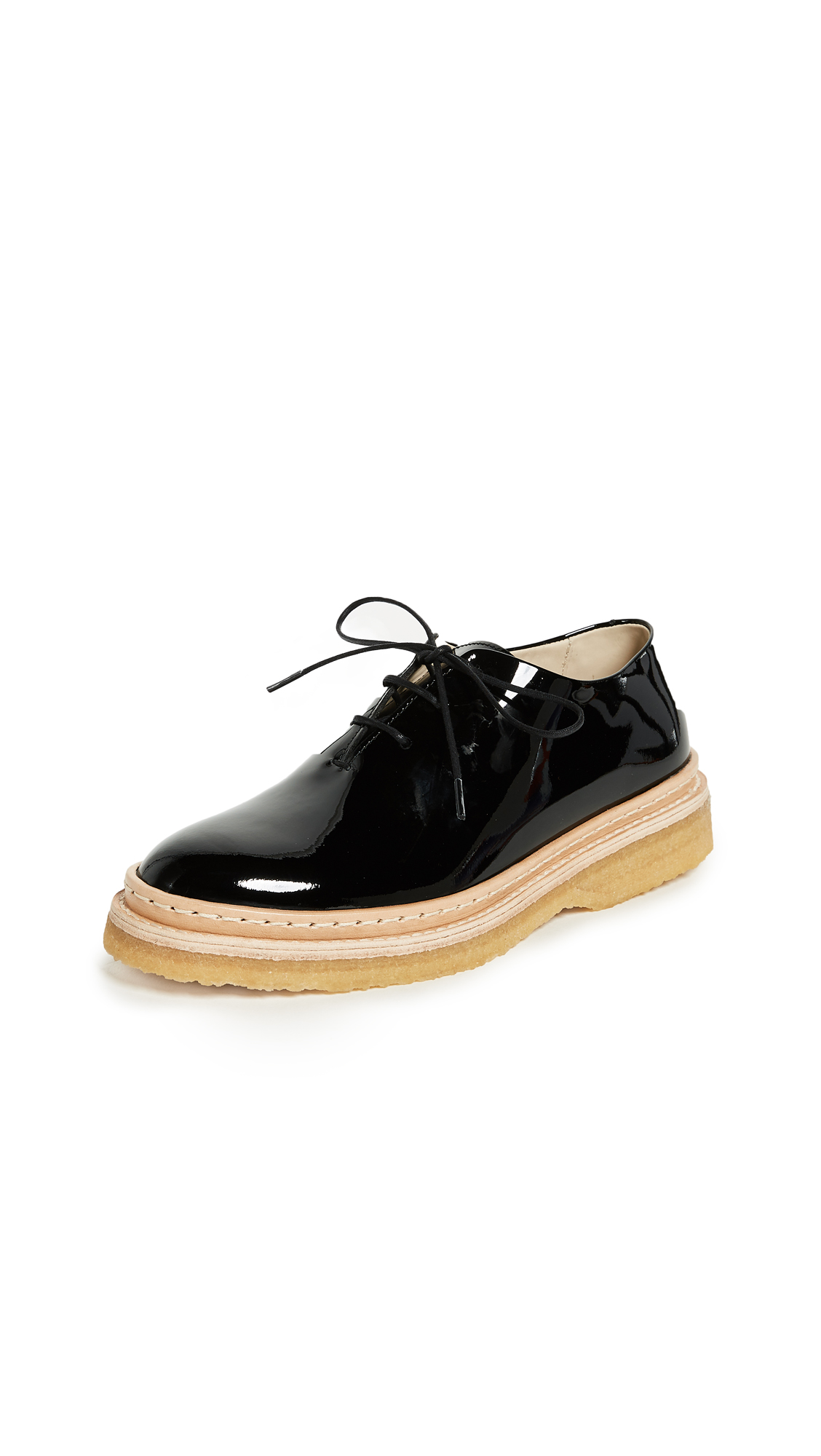 WANT LES ESSENTIELS Cordova Crepe Oxfords - Black