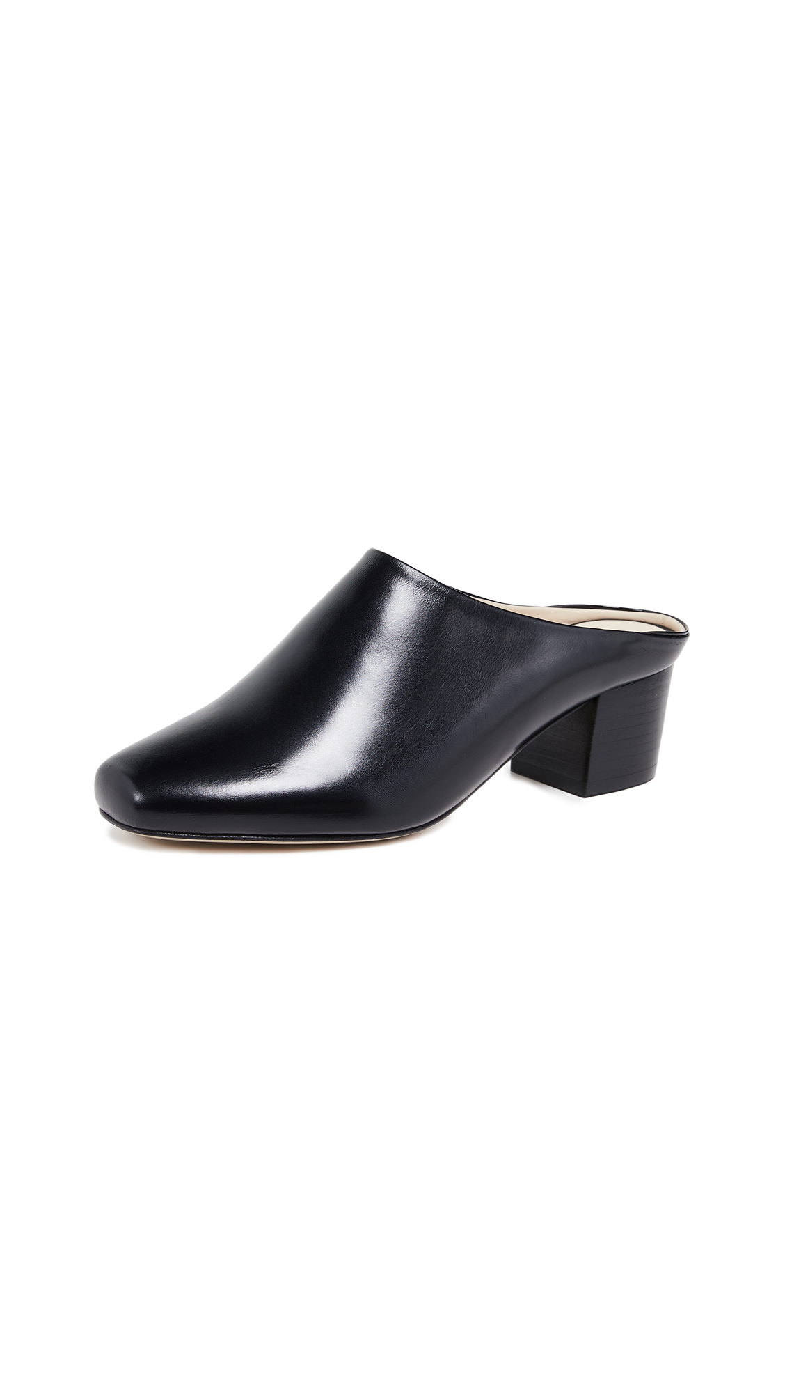 WANT Les Essentiels Alia Mules - Black/Black