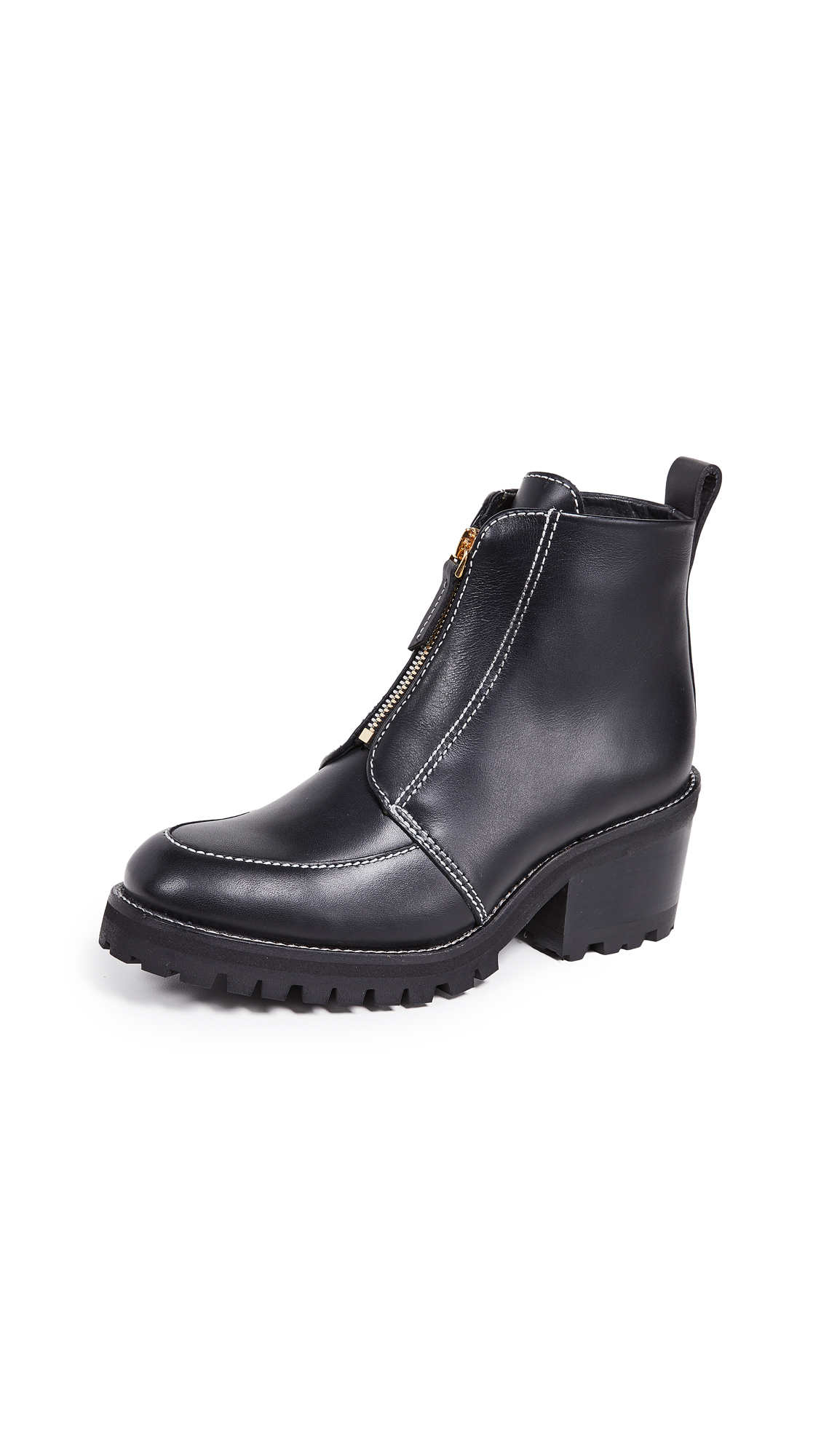 WANT Les Essentiels Varela High Zipped Derby Boots - Black