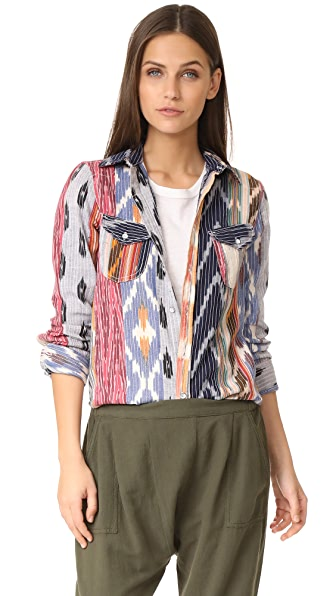 Warm Ripple Shirt - Multi Ikat