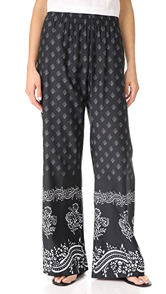 Warm Danna Floral Bandana Pants - Black