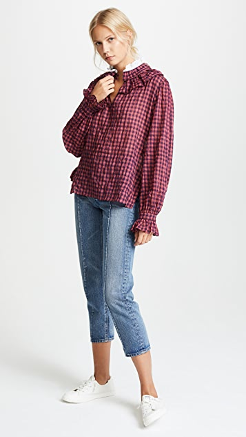 Warm Check Blouse