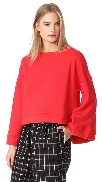 Warm Minimal Sweatshirt In Red