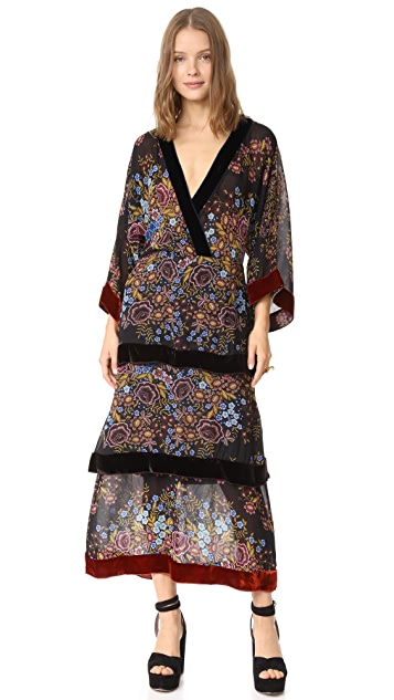 Warm Groucho Floral Dress