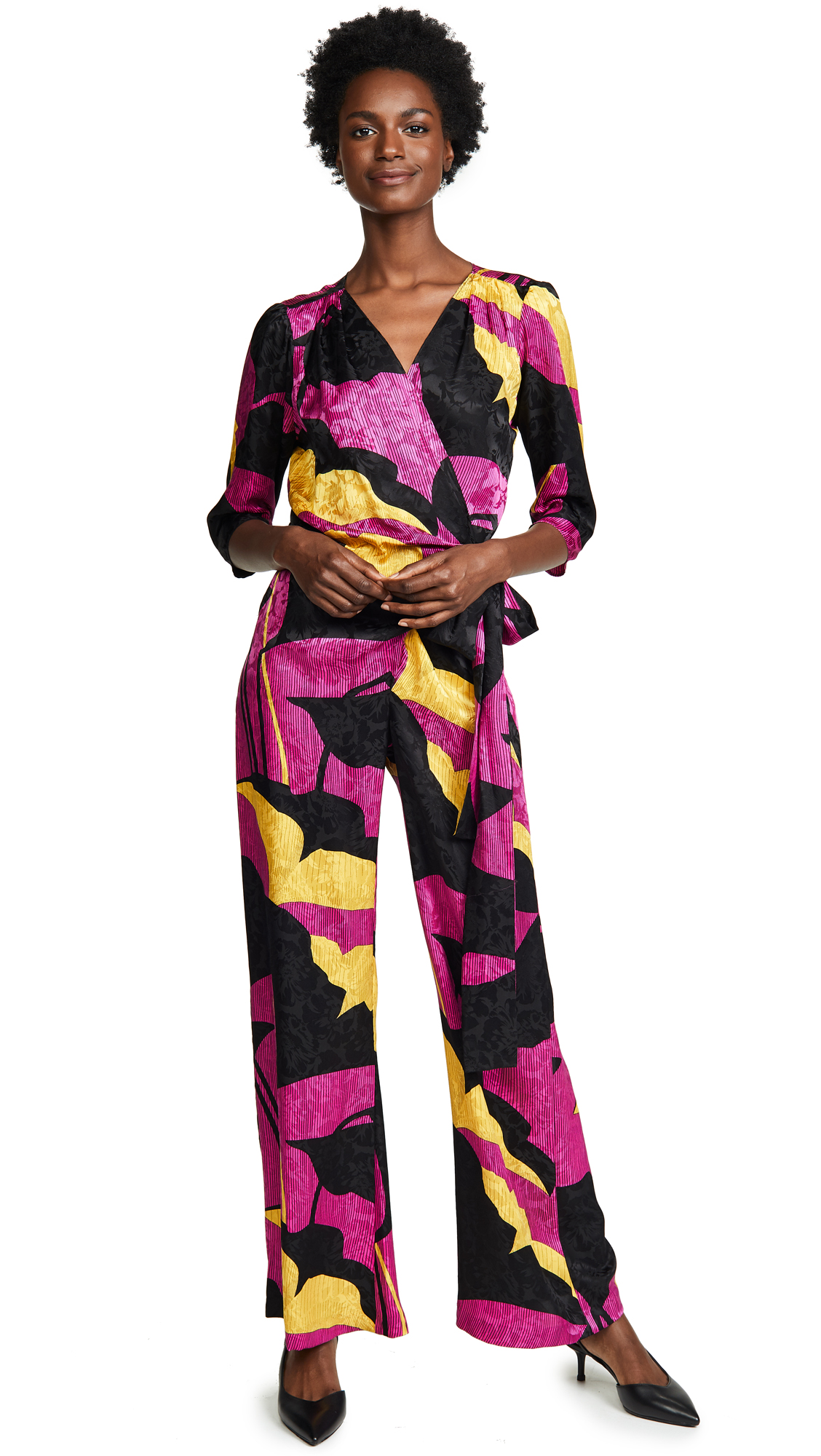 Warm Wrap Jumpsuit - Electric Orchid