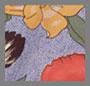цветочный принт в голубых тонах
