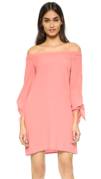 Wayf Off Shoulder Dress - Salmon
