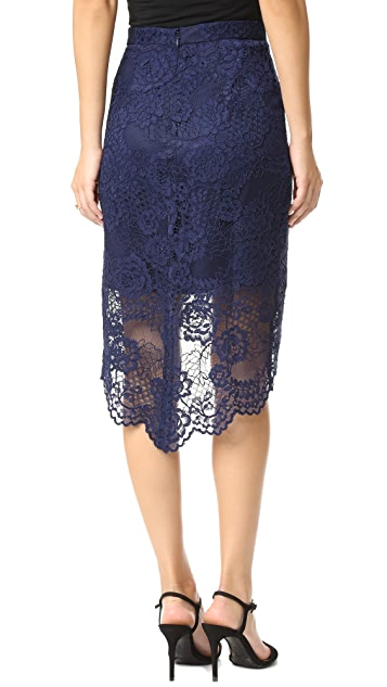 WAYF High Low Lace Skirt