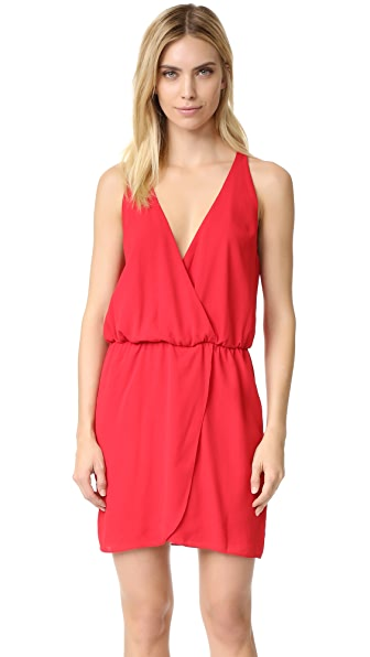 Wayf Wrap Front Dress - Red