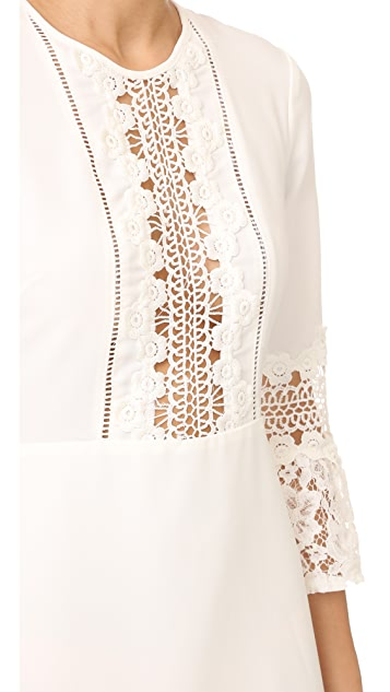 WAYF Somerset Lace Trim Dress