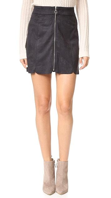 WAYF Warwick Zip Up Miniskirt