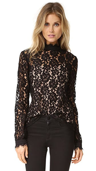 WAYF Berklin Lace Long Sleeve Top